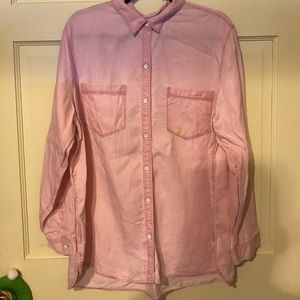 Women's XXL Pink Tencel Button Up Shirt